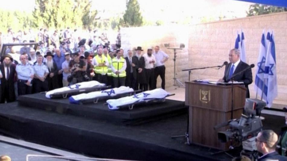 Pohřeb zabitých Izraelců v roce 2014