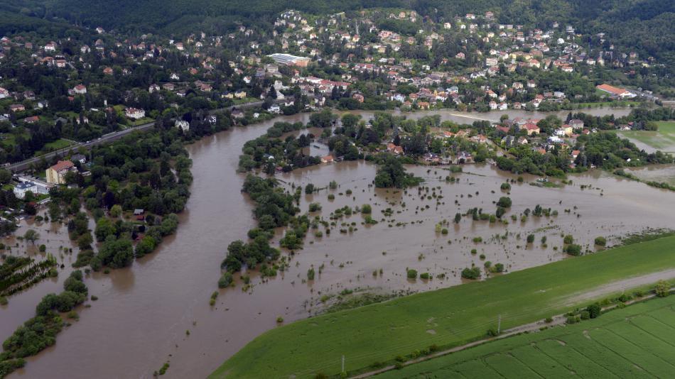Záplava v Černošicích v roce 2013