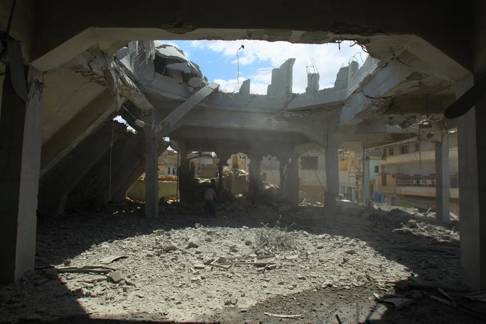 Následky bojů v provincii Idlíb