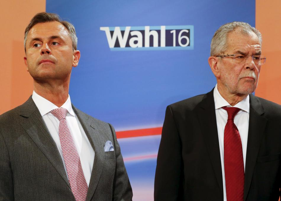 Norbert Hofer a Alexander Van der Bellen