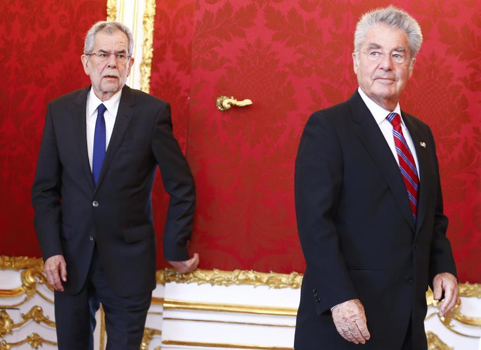 Alexander Van der Bellen a Heinz Fischer