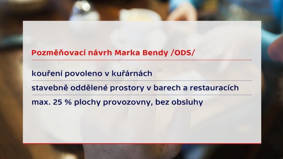 Pozměňovací návrh Marka Bendy