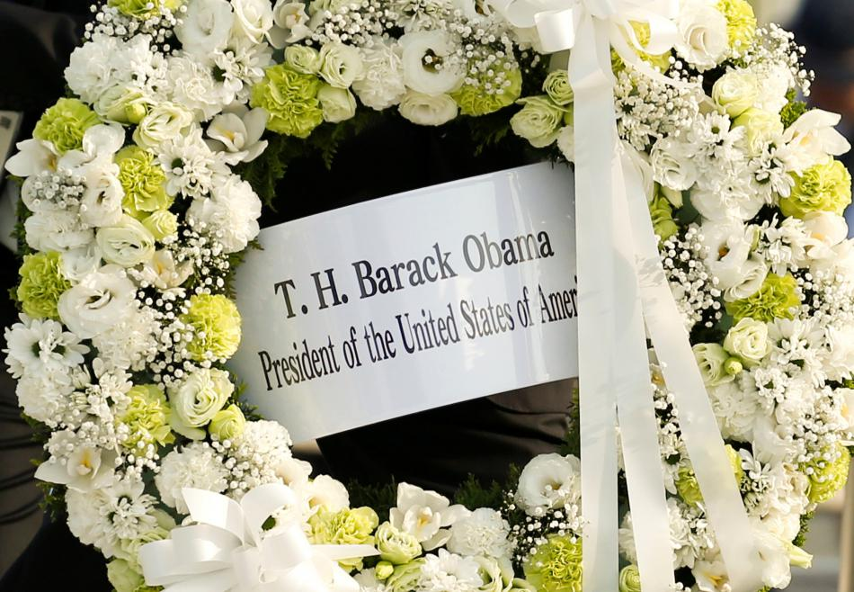 Věnec pro oběti v Hirošimě
