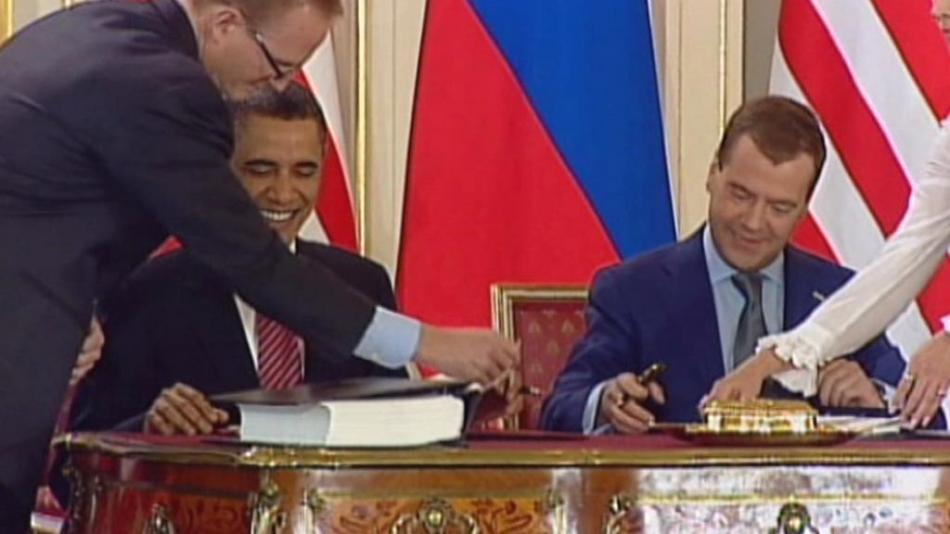 Pražský podpis smlouvy Start