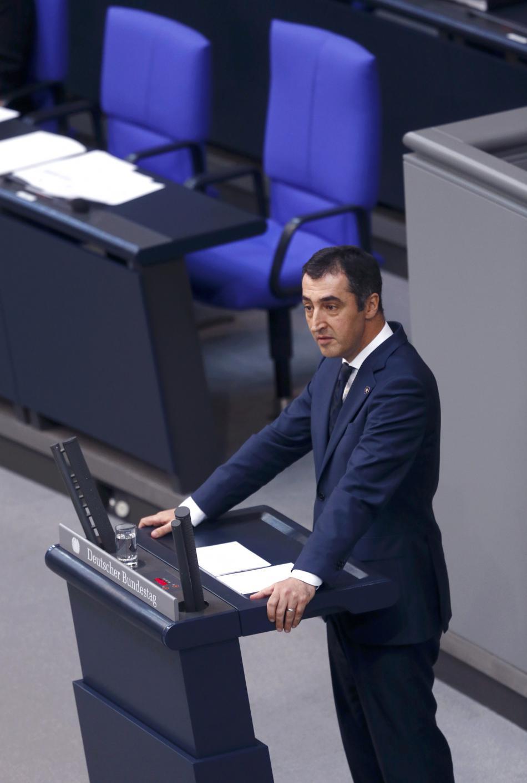 Cem Özdemir před hlasováním o rezoluci