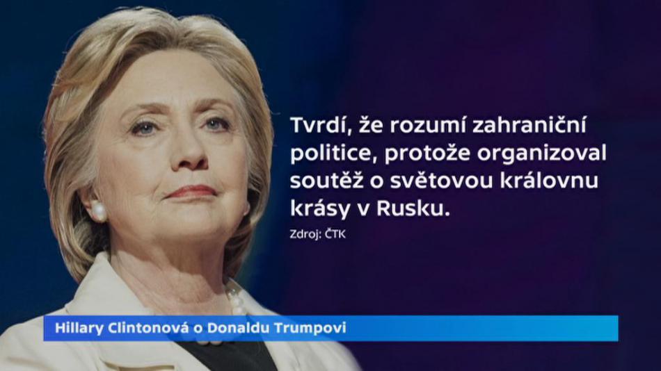 Clintonová o Trumpovi