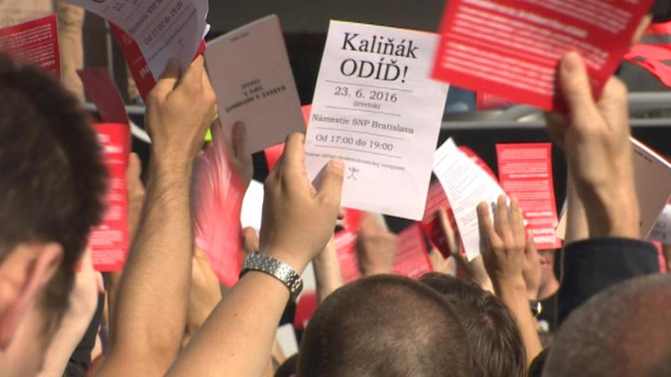 Protest proti Robertu Kaliňákovi