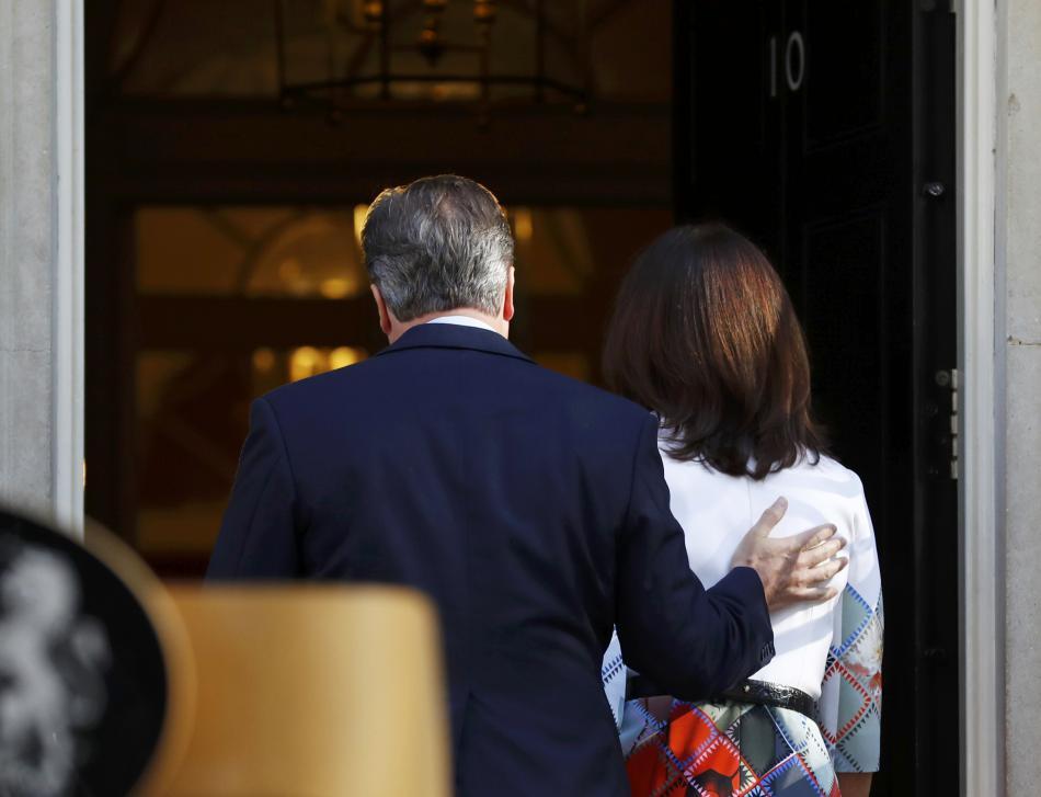 Cameron s manželkou Samanthou