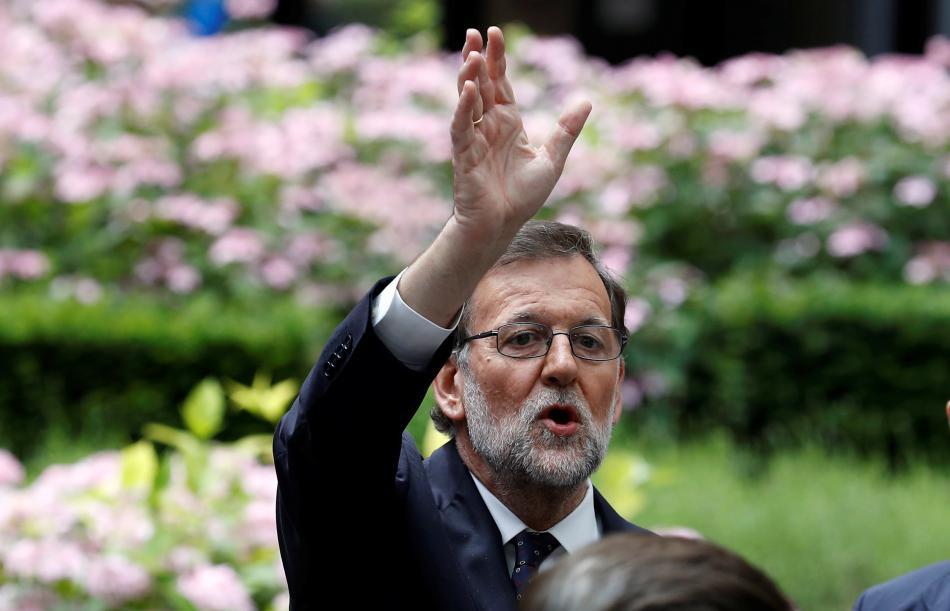 Mariano Rajoy na summitu v Bruselu