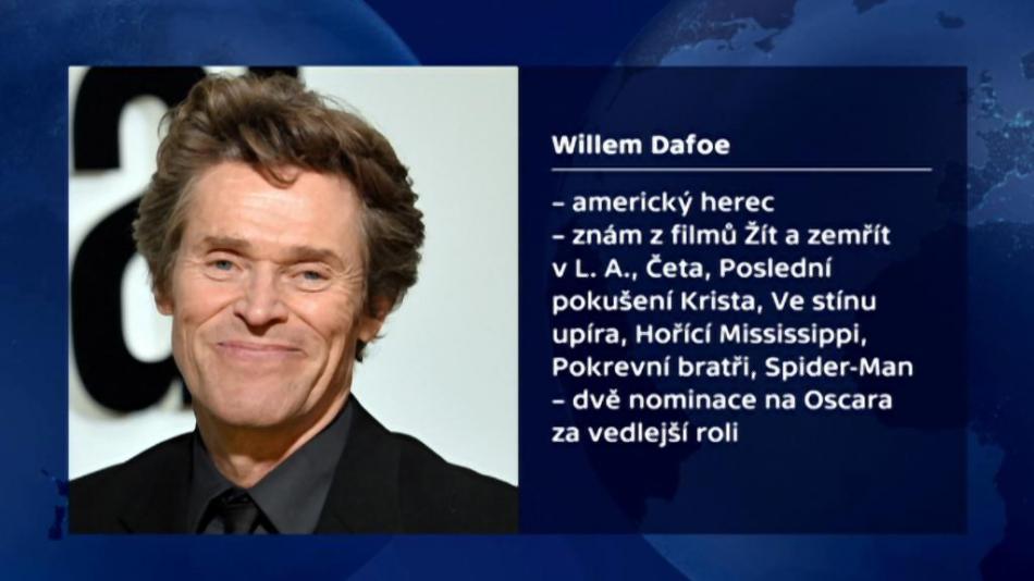 Vizitka Willema Dafoea