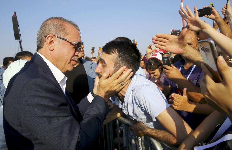 Erdogan se svými příznivci