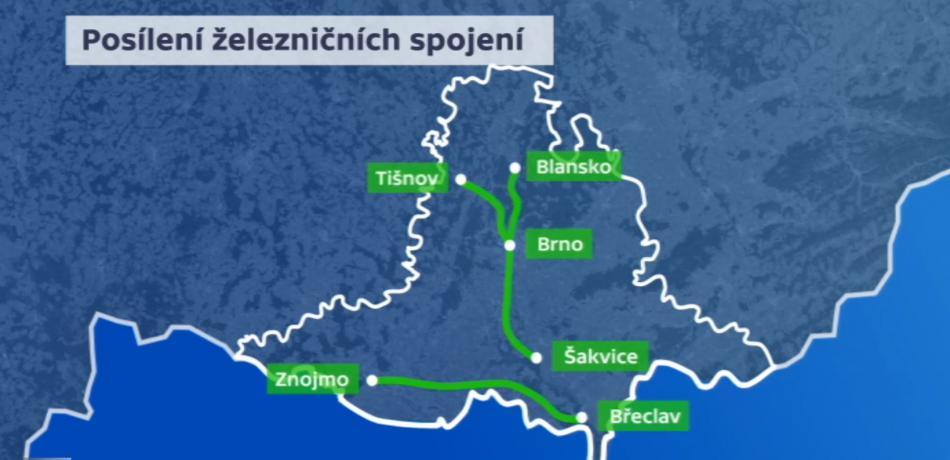 Posílení železničních spojení na jihu Moravy