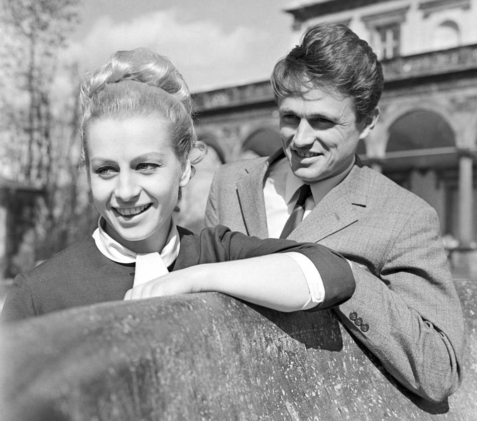 Věra Čáslavská s Josefem Odložilem