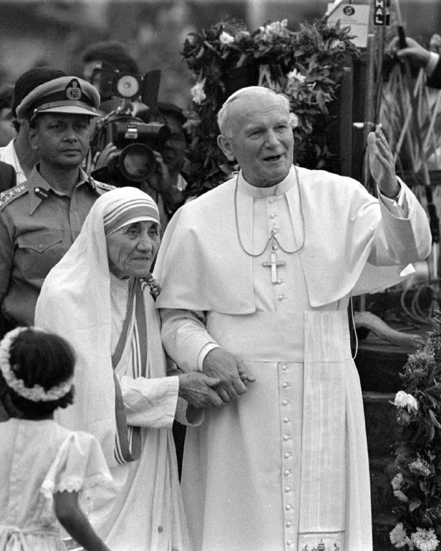 Matka Tereza s Janem Pavlem II.
