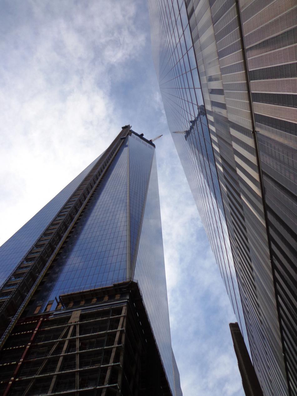 Rozestavěný mrakodrap One Trade Center v New Yorku