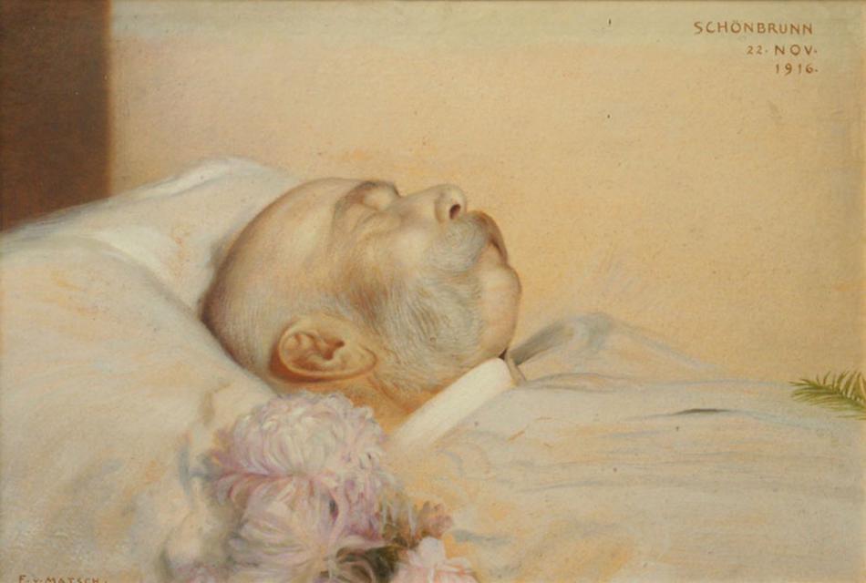 František Josef na smrtelném loži