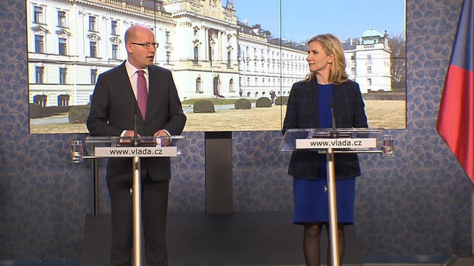 Bohuslav Sobotka a Kateřina Valachová (oba ČSSD)