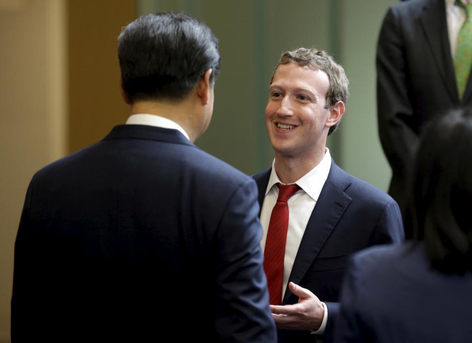 Mark Zuckerberg s čínským prezidentem Si Ťin-pchingem