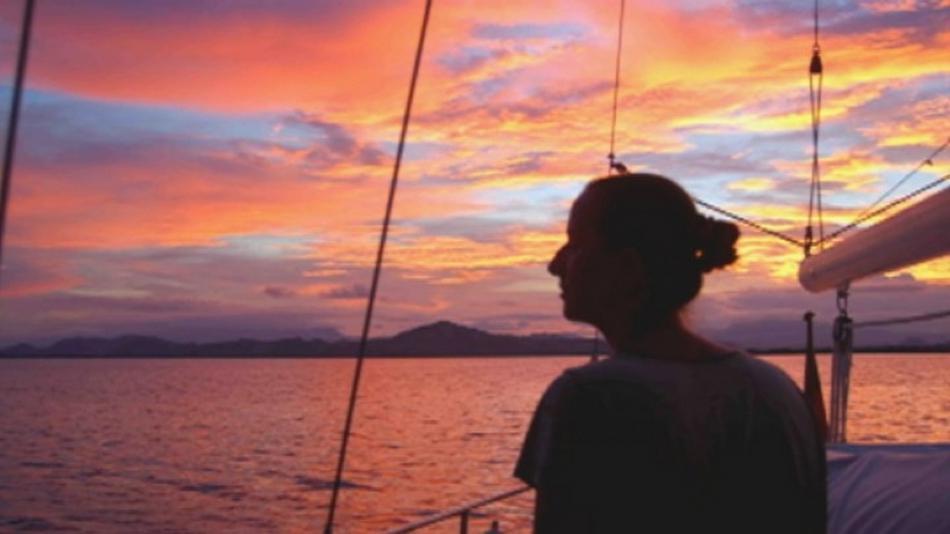 Henrike Dielenová během plavby