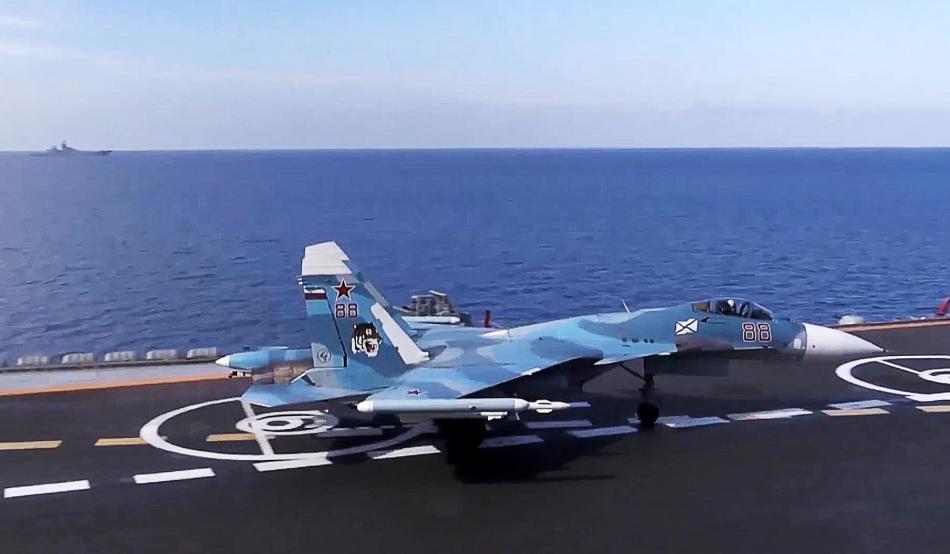Start letounu z Admirála Kuzněcova