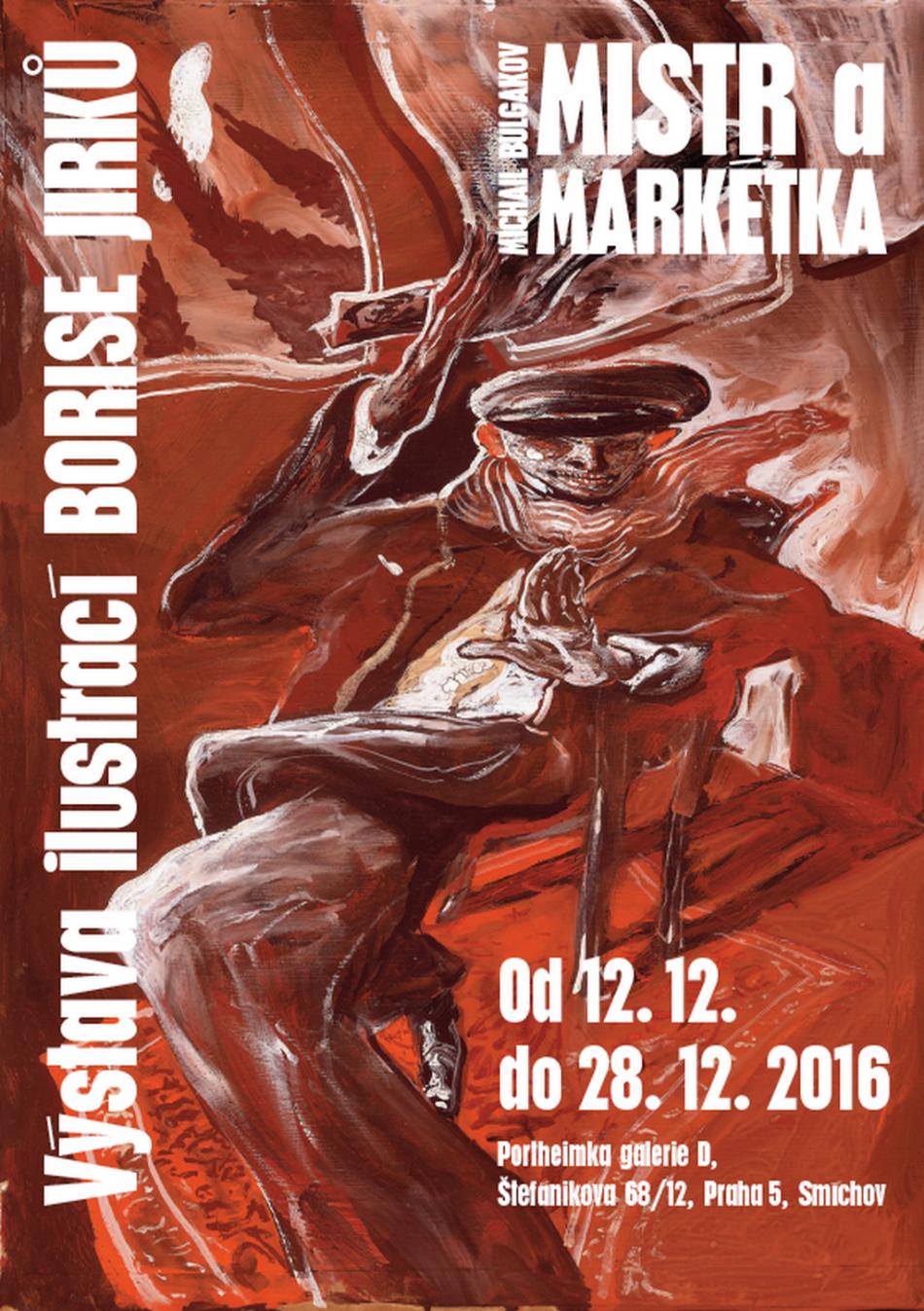 Plakát k výstavě Boris Jirků: ilustrace ke knize Mistr a Markétka