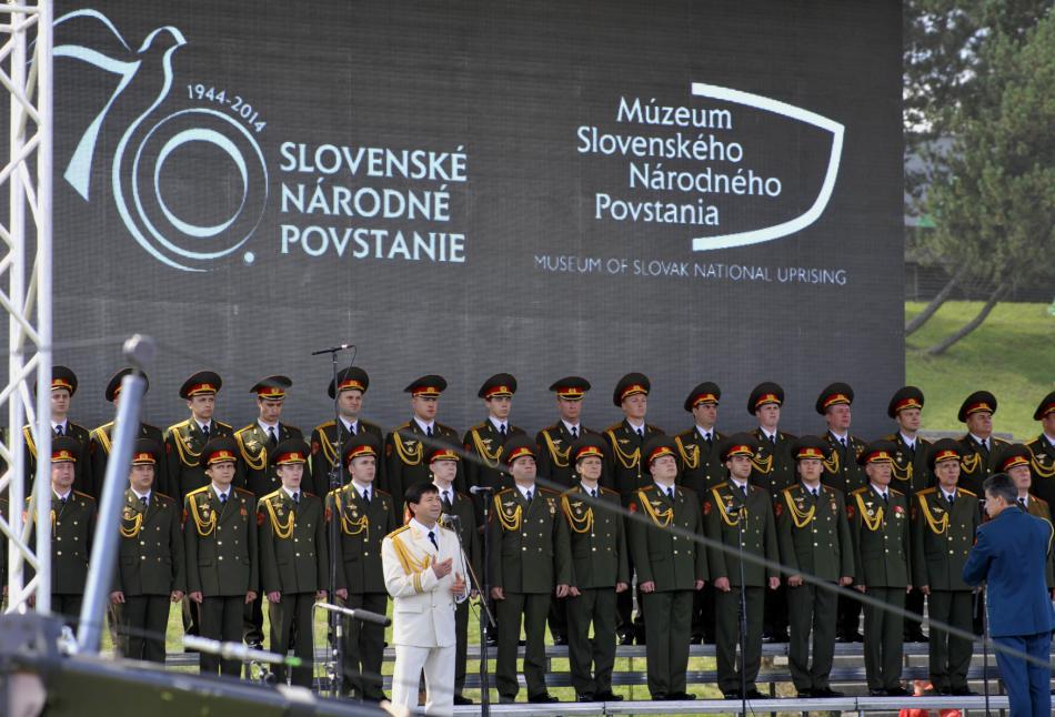 Vystoupení Alexandrovců v Banské Bystrici při příležitosti 70. výročí zahájení Slovenského národního povstání