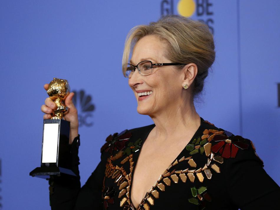 Meryl Streepová se Zlatým glóbem za celoživotní dílo