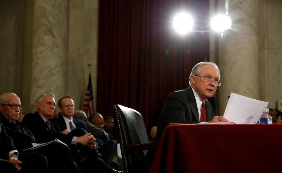 Slyšení Jeffa Sessionse před Senátem amerického Kongresu