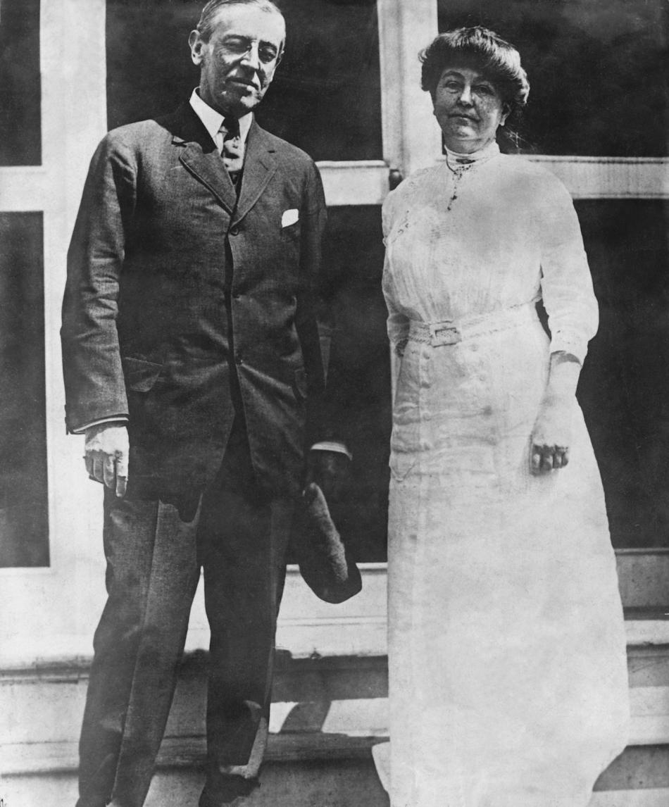 Woodrow Wilson se svou manželkou Edith