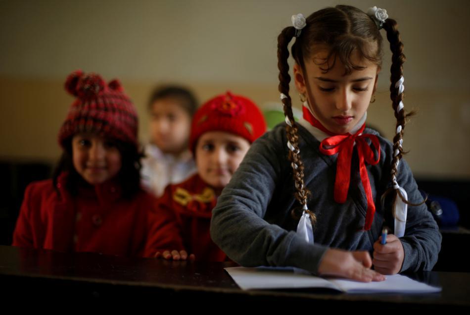 Děti v mosulské škole