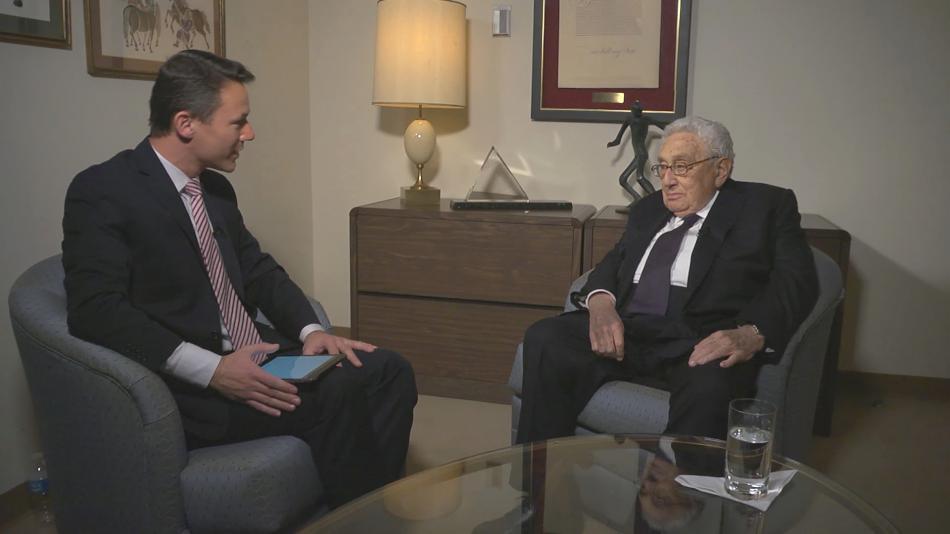 Henry Kissinger během rozhovoru s Martinem Řezníčkem