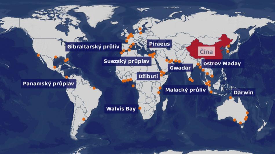 Čína a strategické světové přístavy