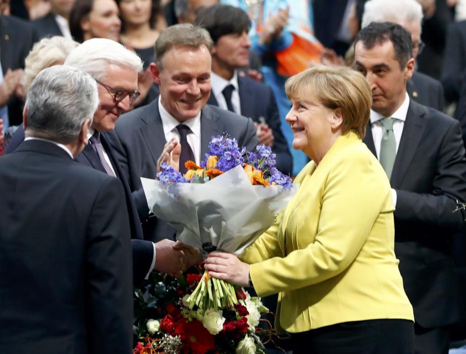 Gratulace kancléřky Angely Merkelové novému německému prezidentovi