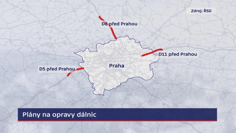 Plán oprav v okolí Prahy