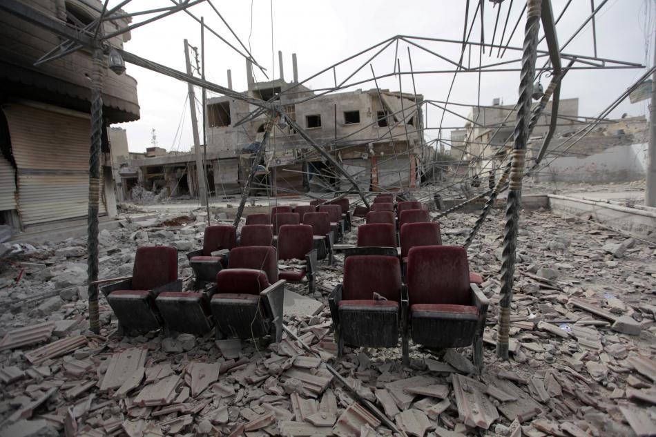 Zničené severosyrské město al-Báb