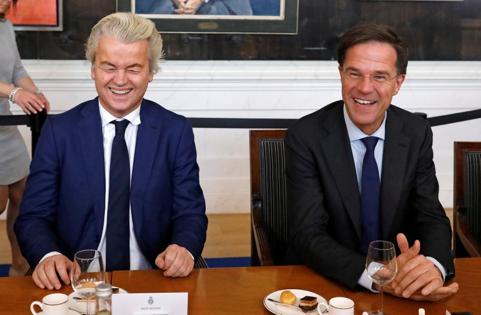 Geert Wilders a Mark Rutte