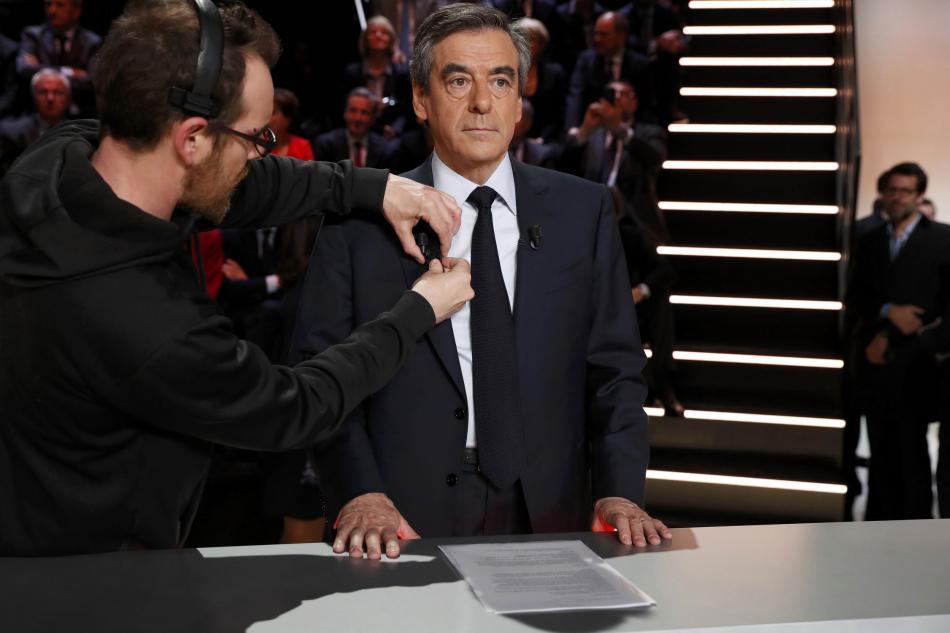 Francois Fillon před televizní debatou