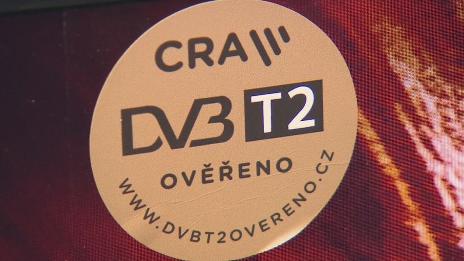 Televize splňující standardy DVB-T2 jsou označeny tímto logem