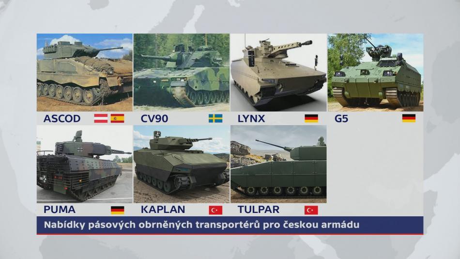Nabídka nových transportérů pro AČR