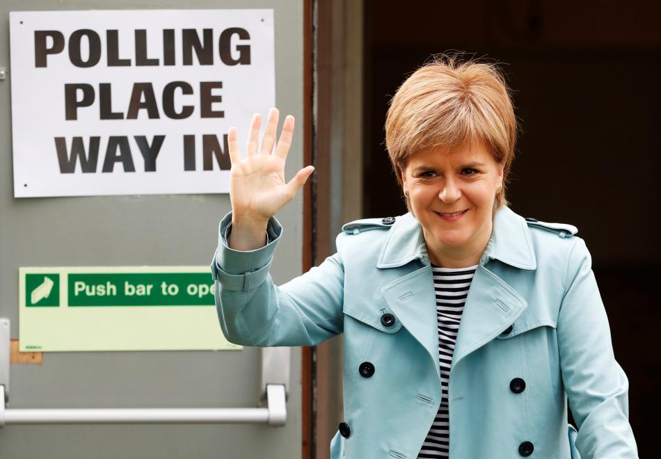 Šéfka Skotské národní strany Nicola Sturgeonová
