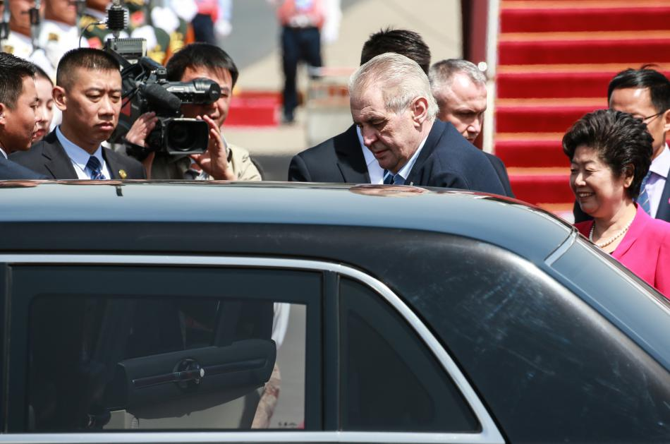 Prezident Miloš Zeman dorazil do Číny