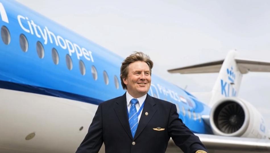 Willem-Alexander jako pilot KLM