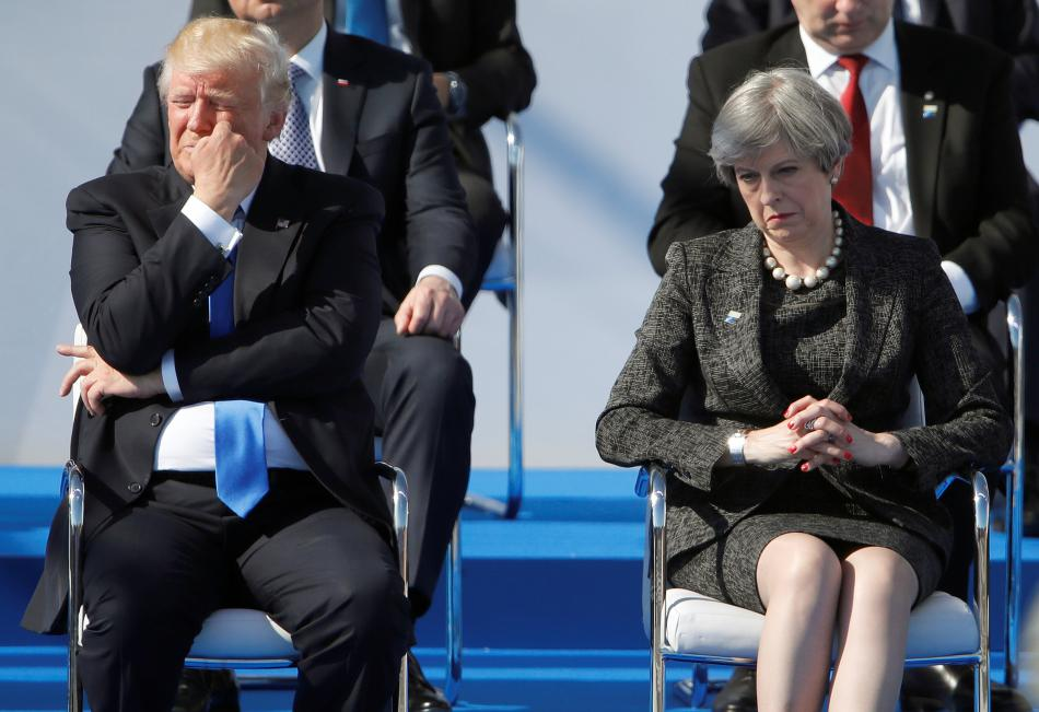 Donald Trump a Theresa Mayová