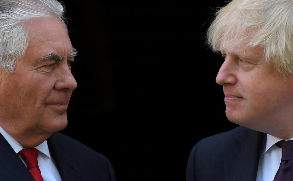 Rex Tillerson a Boris Johnson