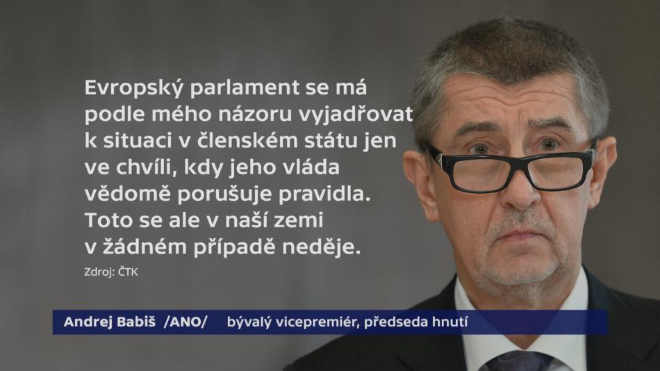 Andrej Babiš k projednání stavu médií v ČR na evropské půdě