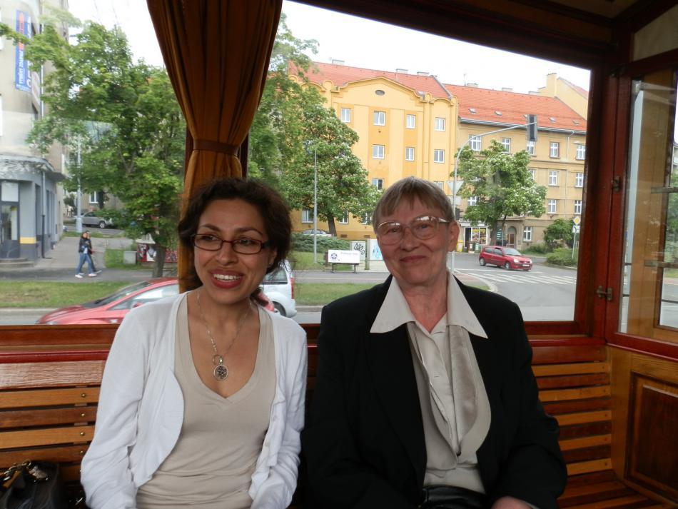 Lídice Robinsonová (vlevo) na návštěvě Česka v roce 2012