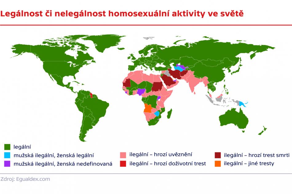Legálnost či nelegálnost homosexuální aktivity ve světě