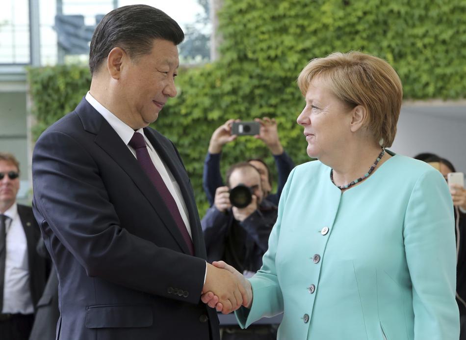 Angela Merkelová a Si Ťin-pching