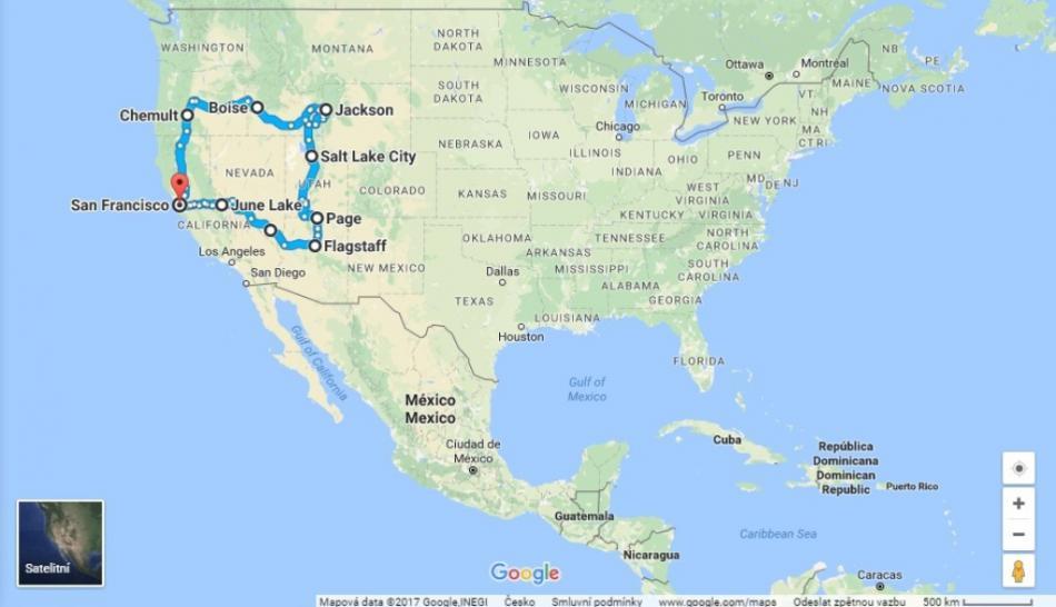 Okruh západem USA