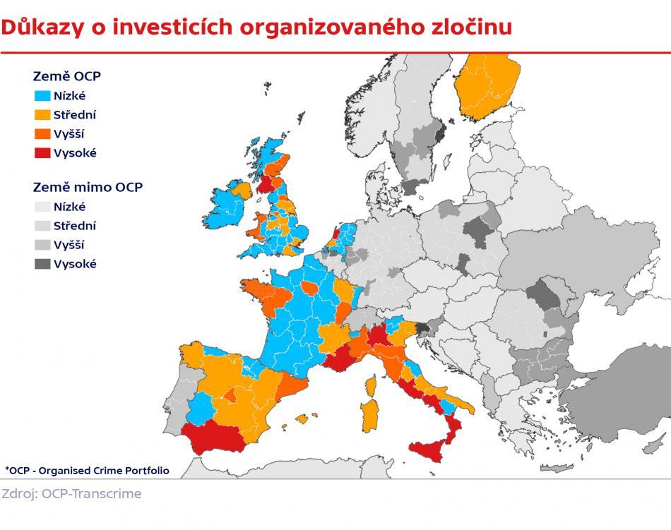 Důkazy o investicích organizovaného zločinu